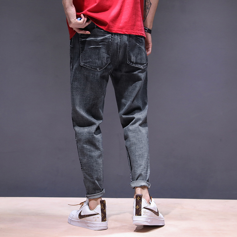KSTUN haren jeans men motorcycle jeans streetwear drawstring elastic waist loose feet Pants outdoor leisure riding jeans joggers 16