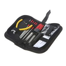 Guitar Repair Kit Guitar Maintenance Fix Care Tools Set Fret Nut File String Winder String Cutter Hex Wrench String Action Ruler ghs fast fret string cleaner string and neck lubricant guitar care