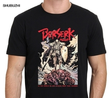 Berserk Guts Skull Knight Black Japan Anime Manga Men's Black Humorous T Shirt Size S 3XL Cool T-Shirt Men High Quality Tees