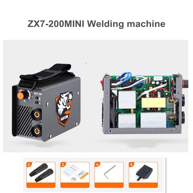 ZX7-200 4000W Mini MMA Welding Machine 220V 200A Inverter Curved IGBT Welding Machine 10-200A