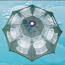 Fishing cage shrimp cage fishing net shrimp net automatic folding lobster net mud cage hand throw net fishing gear umbrella cage fishing basket creel 3 layer multicolored nylon collapsible drawstring bottom nets cage for shrimp crab lobster outdoor fishing