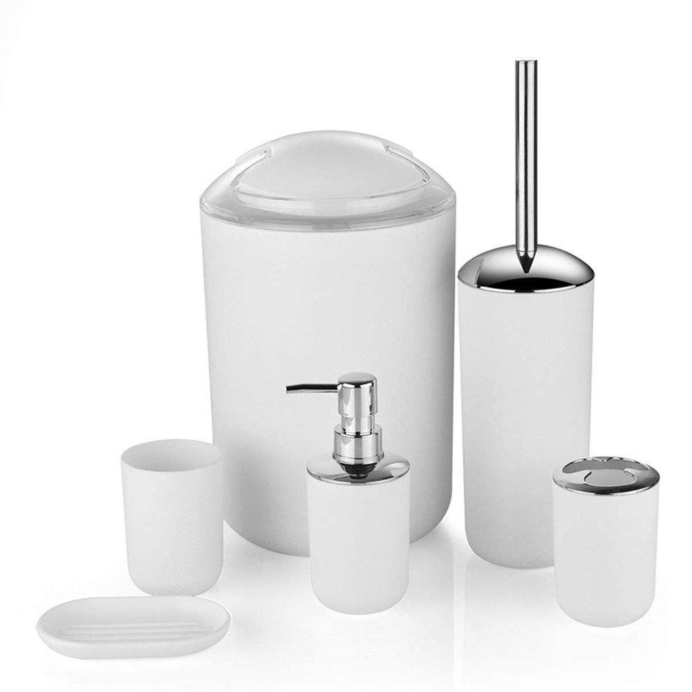 Hot 6 Pcs European Plastic Bathroom Accessories Set Toiletries Bathroom Hotel Supplies D6 Bathroom Accessories Sets Aliexpress