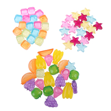20pcs Star Shaped Creative Ice Cube Outdoor Plastic Reusable Multicolour Ice Stone Party Physical Cooling Bar Tool