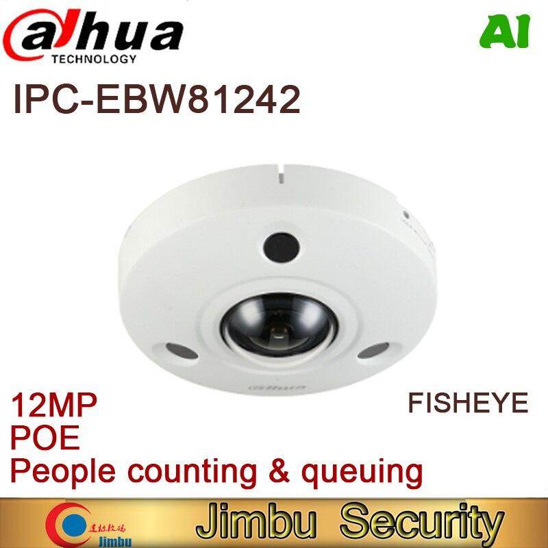 Сетевой видеорегистратор Dahua 12MP IP Камера панорамный Fisheye IPC-EBW81242 AI POE подсчет людей системах видеонаблюдения системы видеонаблюдения Камера