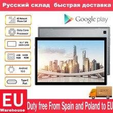 Teclast P20HD 4G telefon görüşmesi 4GB RAM 64 ROM Tablet PC 1920x1200 Android 10 Octa çekirdek 10.1 inç IPS SC9863A GPS 6000mAh tablet