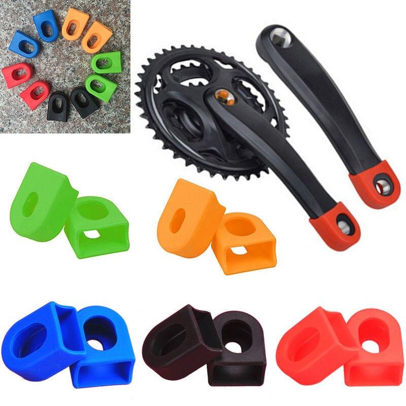 2 pièces silicone vélo manivelle bras bottes protecteurs vélo vtt manivelle ensemble manchon de Protection pièces manivelle Protection pour Sram vélo