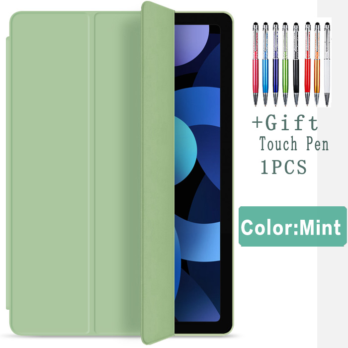 Green-Air 4 Green Flip Case For iPad Air 4 10 9 2020 Silicone Cover For iPad Air 4th generation