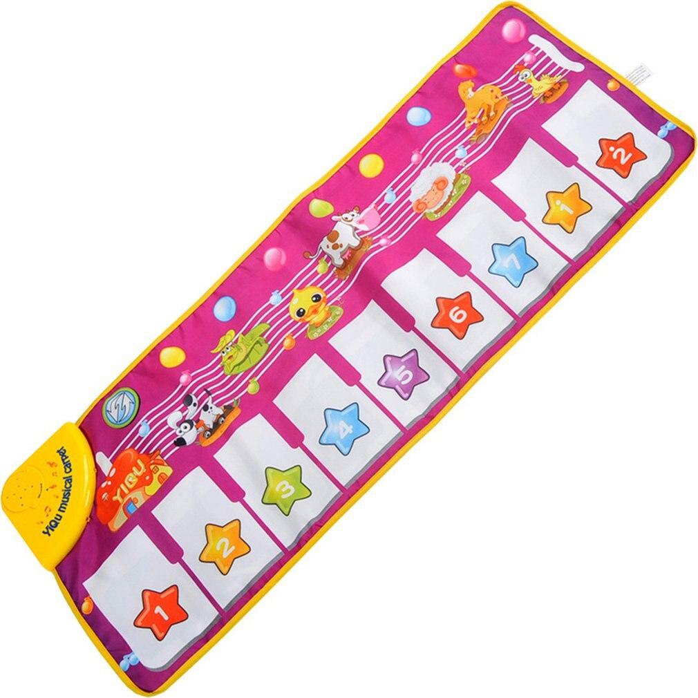 Children'S Educational Music Blanket Flash Piano Blanket Environmental Protection Children'S Multi-Function Music Game Carpet