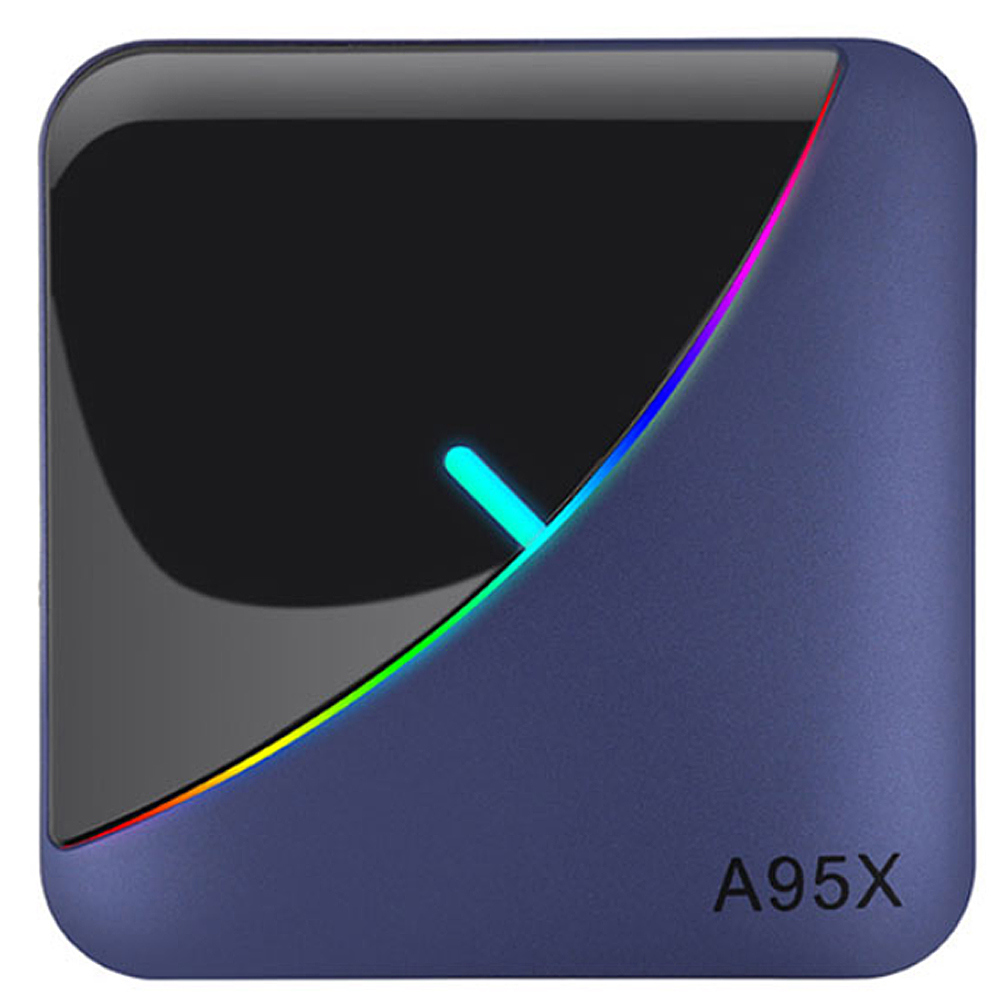 Android 9.0 TV BOX Amlogic S905X3 4G RAM 32GB 64GB ROM Quad Core 2.4G/5GHz Wifi BT H.265 4K Youtube A95X F3 décodeur