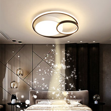 Modern Led Ceiling Roofing Lamp for the Living Room Kitchen Bedroom Dining Study Round Acrylic White Chandelier Indoor Lighting