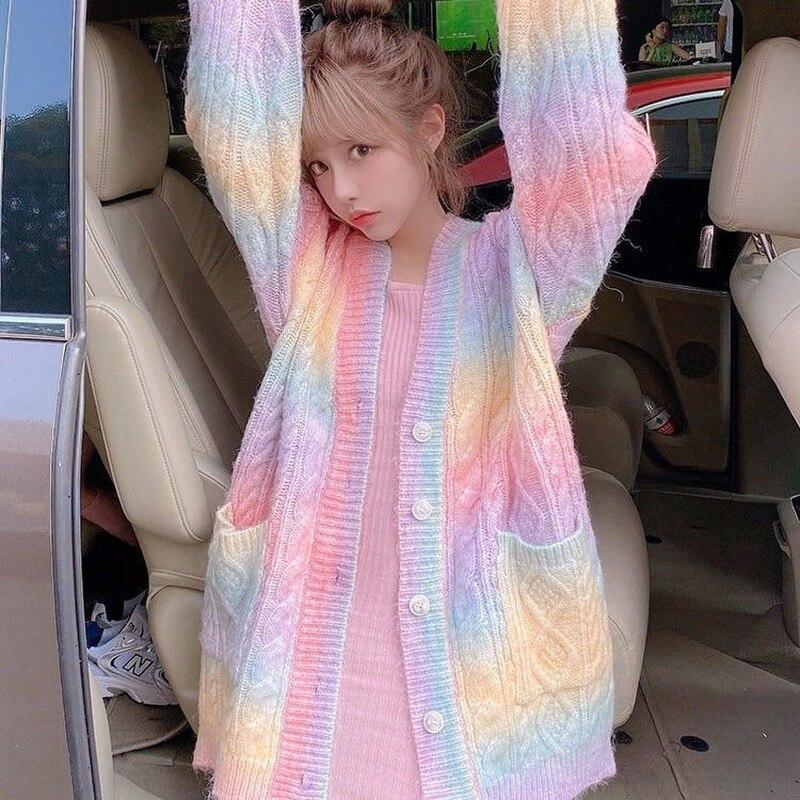 Rainbow Knitted Jacket 2