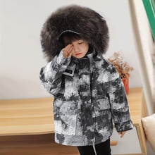 Real Kid Fur Coats Winter Jackets Girls Natural Rabbit In Kids Boys Jacket Children