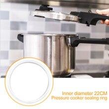 Mutfak kauçuk yüksek esneklik elektrikli düdüklü tencere conta beyaz silikon sızdırmazlık halkası 22 cm iç çapı mutfak Cookin