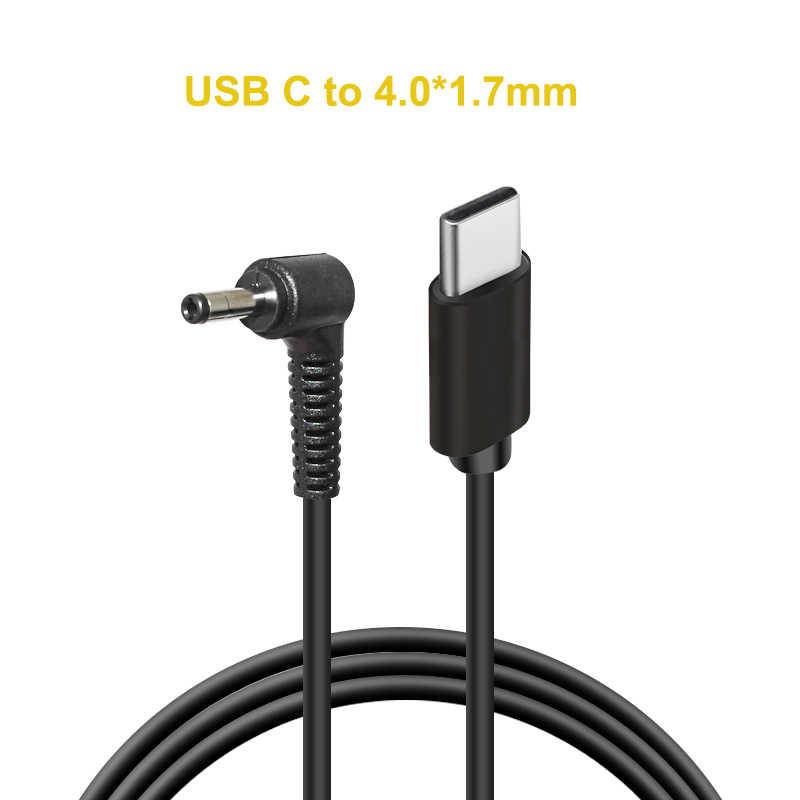 """USB C סוג C פ""""ד כדי 4.0X1.7mm מחשב נייד טעינת כבל כבל Dc Power מתאם תקע מחבר עבור xiaomi RedmiBook 14 עבור Lenovo"""