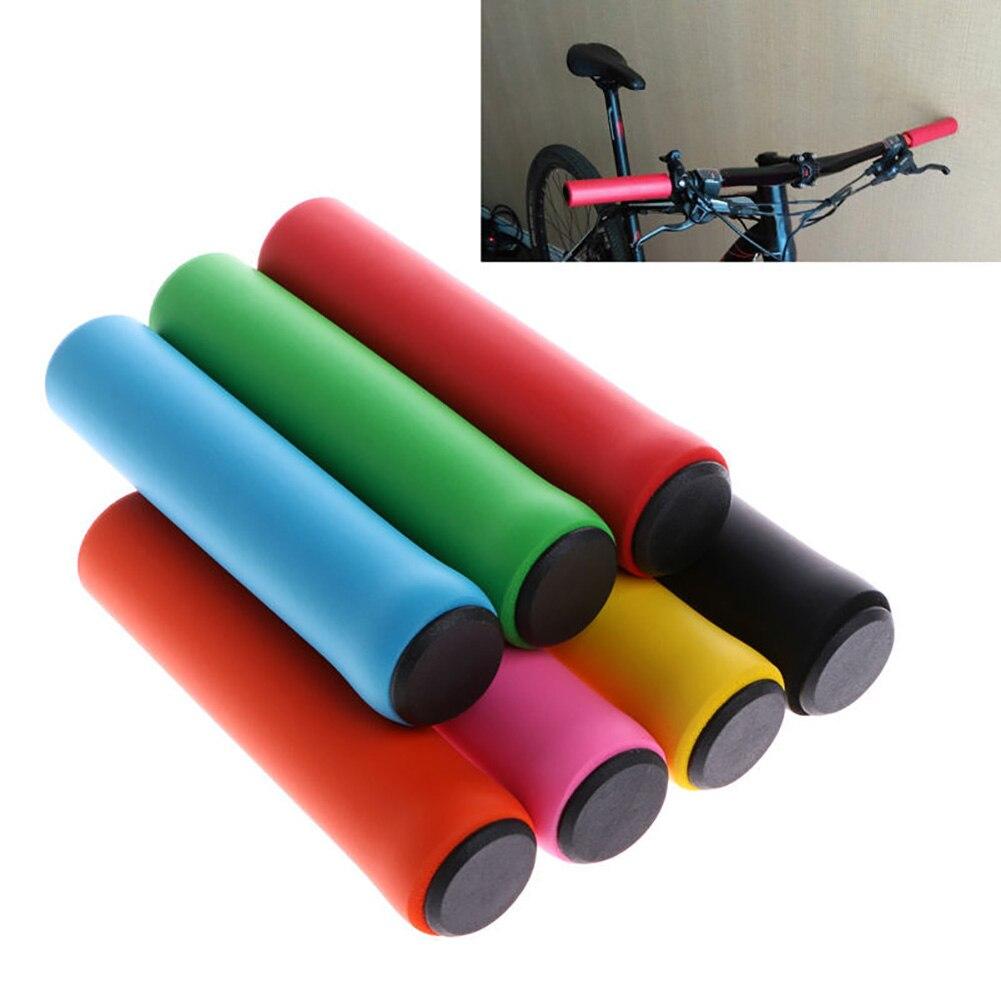 1 Pair MTB Bike Bicycle Handlebar Cover Grips Smooth Soft High Density Foam Silicone Sponge Handlebar Cover Handle Bar End