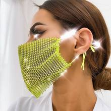 Elastic Sexy Glitter Sequined Masks for Women Warm and Dustproof Colorful Mask Breathable Face Jewelry Nightclub Face Accessorie(China)