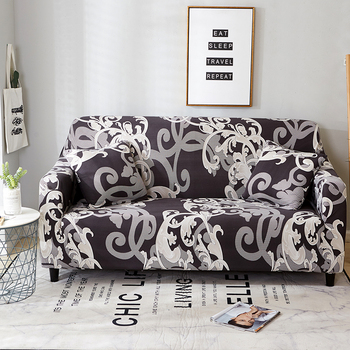 Sofa Covers for Living Room Modern Floral Printed Stretch Sectional Slipcover Polyester L Shape Armchair Couch Case 1/2/3/4 Seat 20