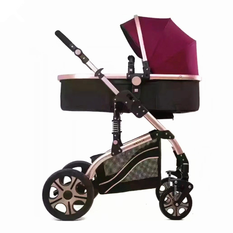 Portable Baby Stroller Shock Absorption Foldable Light Weight Baby Carriage Travel Can Sit and Lie