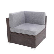 Oshion Single Outdoor Patio PE Wicker Rattan Corner Sofa