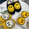 Winter Women Warm Slippers Artificial Fur Smiley Face Non-slip Soft Home Slippers Women 2021 Outdoor Indoor Unisex Cotton Shoes