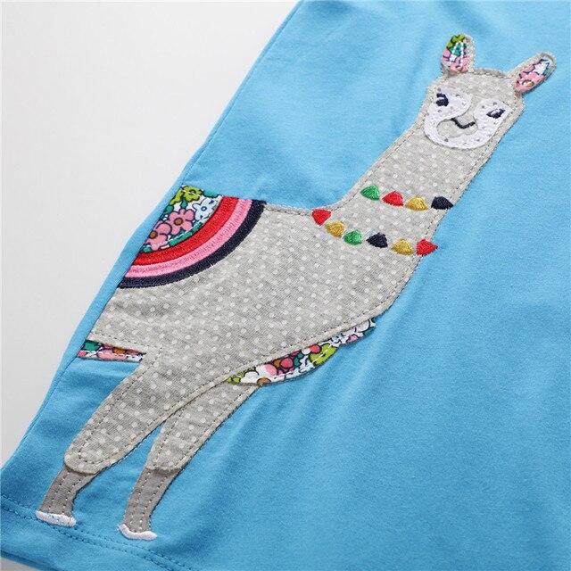 Купить платье для девочек хлопковая детская одежда с мультяшным принтом картинки