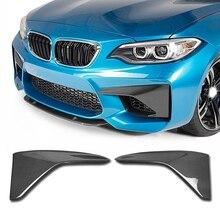 Углеродное Волокно сплиттер передней губы Накладка для BMW F87 M2 2-двери