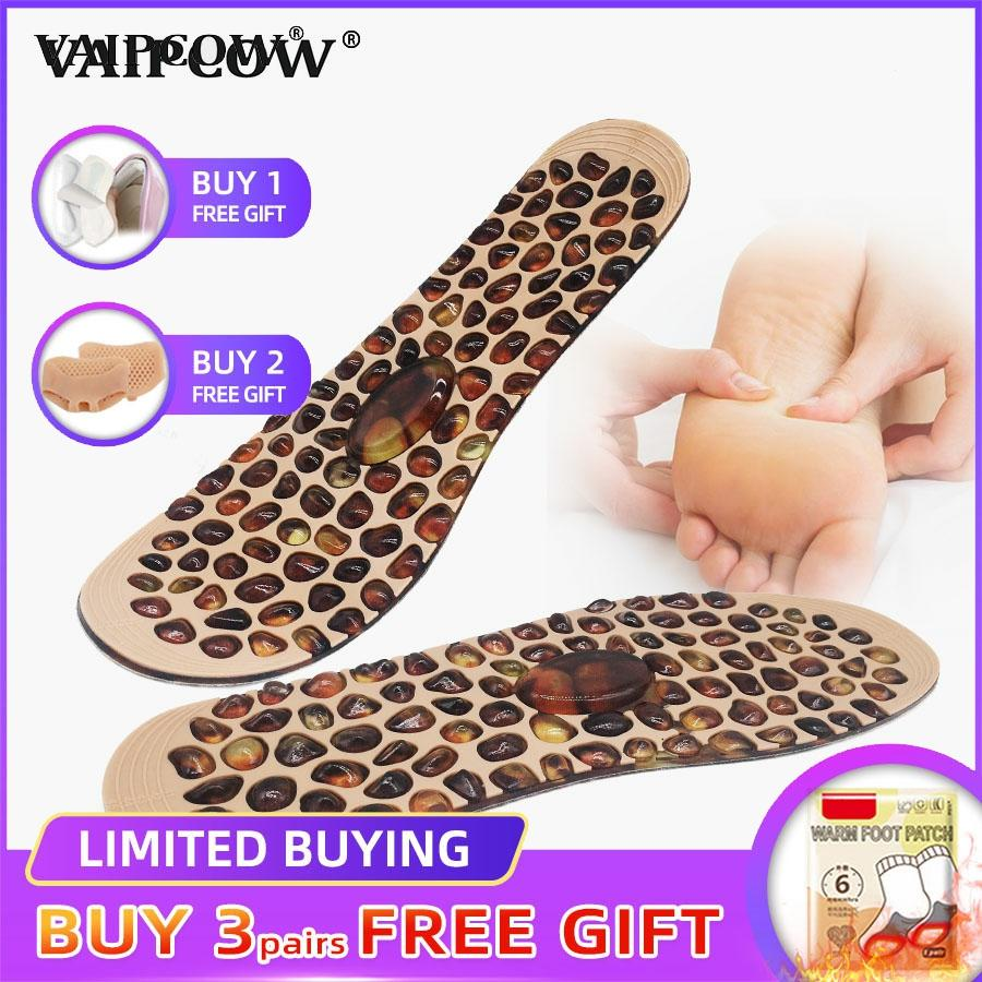 Foot Massage Insole Rubber Cobblestone Therapy Acupressure Point Design Reflexology Feet Care Pain Relief For Men Women