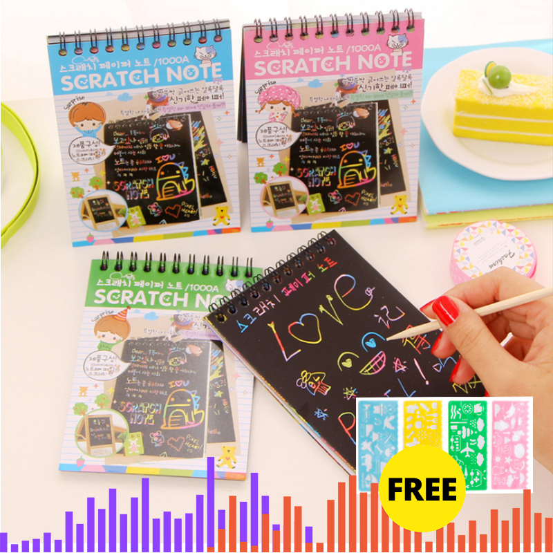 Craft Kids Diy Toys Creativity Toys  For Children Color Cardboard Creative DIY Draw Sketch Notes For Kids Toy School Supplies