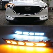 Feu de jour LED pour Mazda CX 5 CX5 2017 2018 2019 2020, relais de clignotant, ABS 12V DRL, feu antibrouillard, décoration, 2 pièces