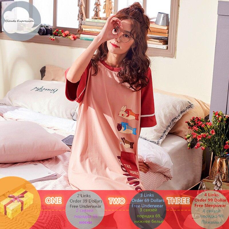 Brand-Summer-Nightgowns-O-neck-Cotton-Cartoon-Women-s-Sleepwear-Nightwear-Plus-Size-Sleep-Lounge-Nightdress (1)_副本
