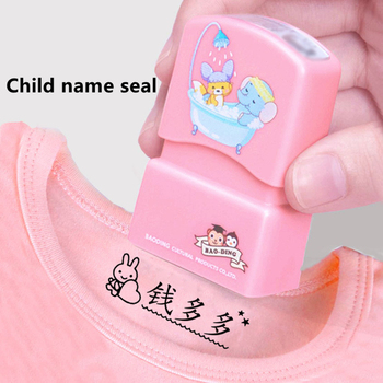 Customized Name Stamp Paints Personal Student Child Baby Engraved Waterproof Non-fading Kindergarten Cartoon Clothing Seal - discount item  19% OFF Arts,Crafts & Sewing