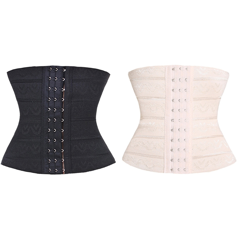 Womens Waist Trainer Hollow Tension Ventilation Slimming Corset Body Shaper Soft 19QF