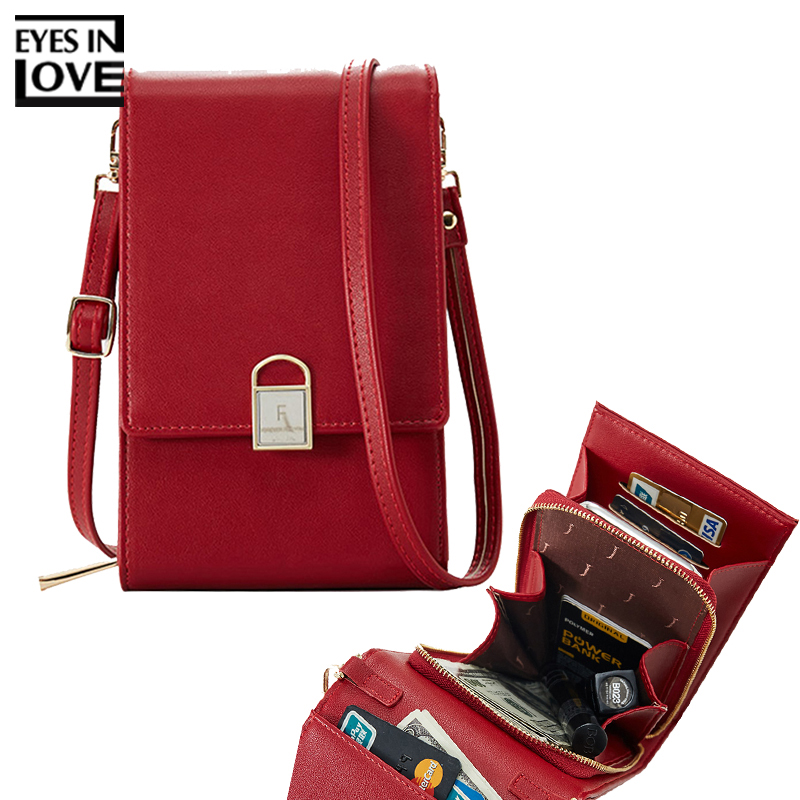 Mini Women Shoulder Bags Female Phone Wallet Women Flap Messenger Bag Brand Designer Small Crossbody Bag PU Leather Ladies Purse