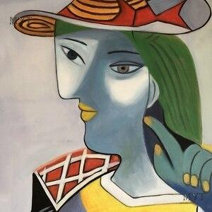 Image 5 - جديد مجردة الشكل الفن اليدوية بيكاسو لوحات الاستنساخ الحديثة النفط الطلاء قماش جدار ديكور فني للمنزل جدار صور الفن