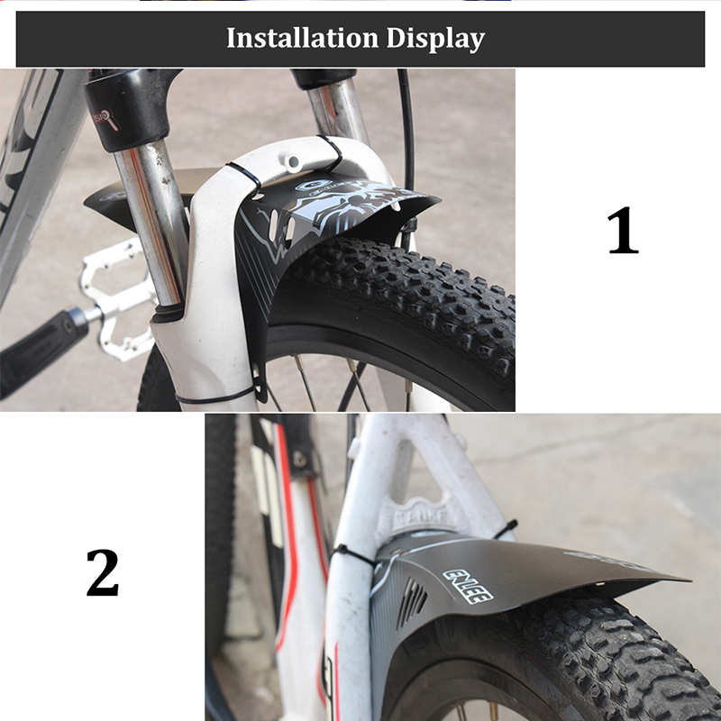 US ENLEE Reflective Bicycle Part Mudguard 300*275mm Front Rear Mud Flaps 6 Types