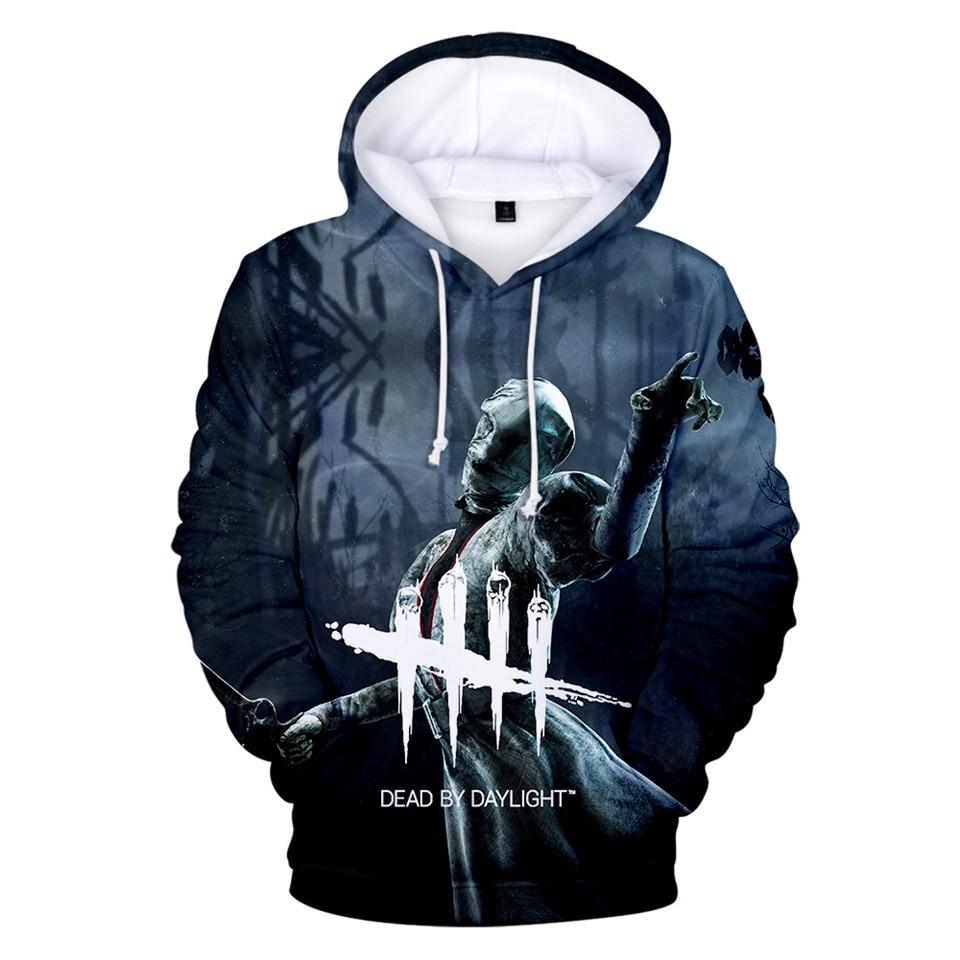 Dead By Daylight 3D Hoodies Men/Women Long Sleeve Streetwear Hoodie And Sweatshirt Death Is Not An Escape Printed Jacket Clothes