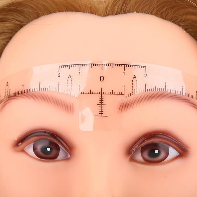 NEW 10PC Reusable Semi Permanent Eyebrow Ruler Eye Brow Measure Tool Eyebrow Guide Ruler Microblading Calliper Stencil Makeup 2