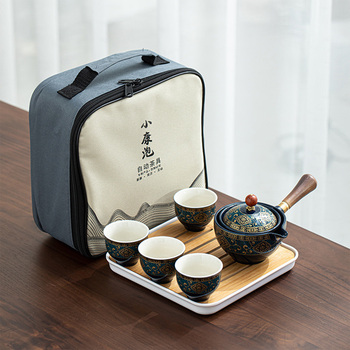 Portable Porcelain Chinese Gongfu Tea Set 1