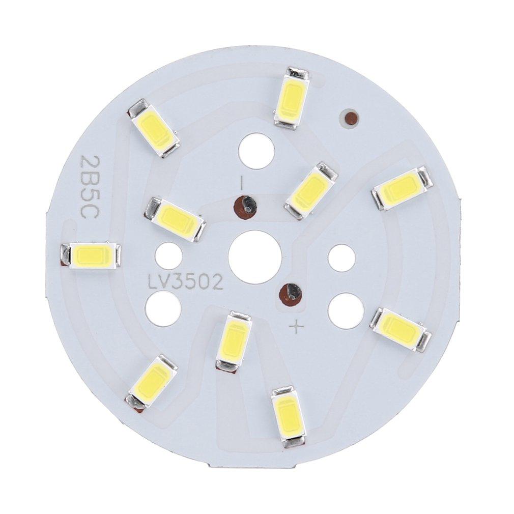 220V 3W LED SMD Round Chip Bulb Light Aluminum Plate Board Module Lamp