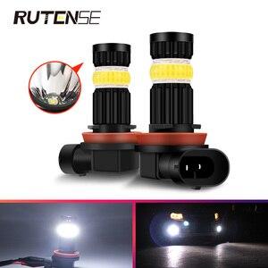 2X Автомобильный светодиодный противотуманный светильник H7 H11 9005 HB3 9006 HB4 H8 H9 высокой мощности cob 9005, светодиодные противотуманные фары, ходов...