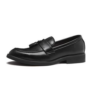 Image 3 - Senhores dos homens Se Vestem Sapatos estilo Britânico Paty Sapatos Formais Sapatos de Casamento Sapatos de Couro Dos Homens Oxfords de Couro Flats
