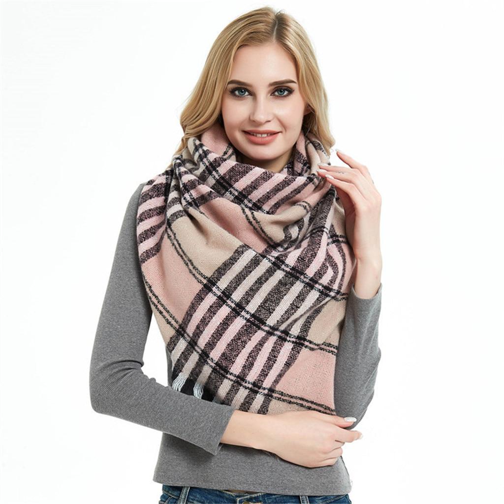Fashion Brand Scarf Autumn Winter Stripe Women Large Size Elegant Warm Shawls And Scarves Soft Bufandas Hijab 919