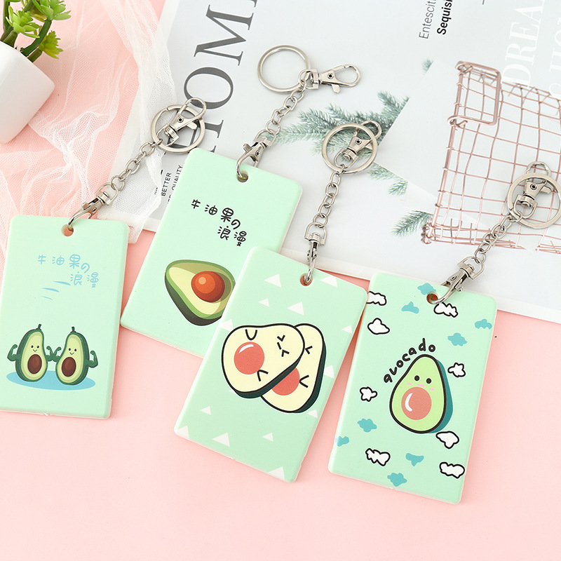 Cute Cartoon Kids Bus ID Card Holder Protector Case Bag Bank Credit Card Holder Wallet Men Women Identity Badge Card Cover