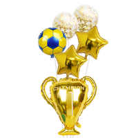 1set gold champion prize Sport Balloons soccer Party Latex Balls baby Boys Birthday Games Toys Event Party decorations Supplies