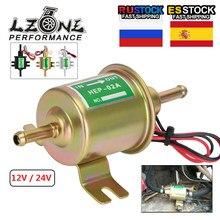 LZONE-nouveau 12V / 24V pompe à essence électrique basse pression boulon fixation fil Diesel essence HEP-02A pour voiture carburateur moto ATV