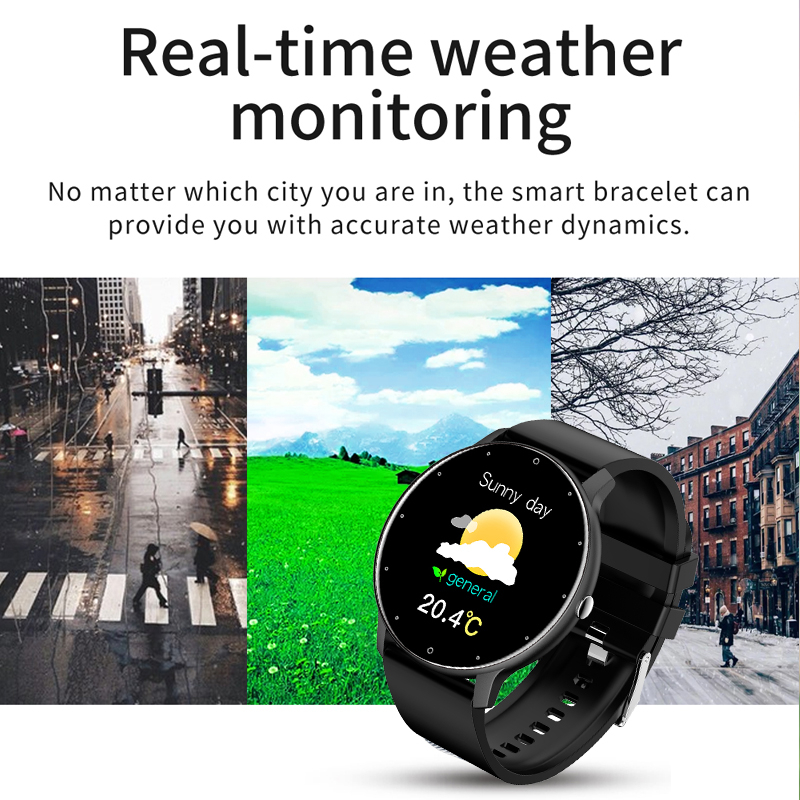 LIGE 2021 Новый смарт-часы для мужчин полный сенсорный Экран Спорт Фитнес часы IP67 Водонепроницаемый Bluetooth для Android ios смарт-часы для мужчин + коробка 4