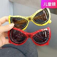 Детские солнцезащитные очки модные Мультяшные украшения для мальчиков Роскошные брендовые затемнения для детей Защита от УФ-лучей поликар...