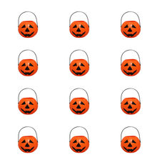 12 Uds Halloween Candy Pot Halloween novedad Halloween cubo ornamento lindo Mini Cubo de dulces titular para fiesta Halloween(China)