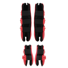 2 Pairs Horse Leg Boots Hind Front Leg Tendon Protective Wraps for Horse Riding Jumping Training Show