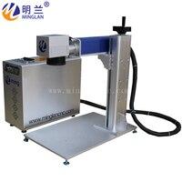 Portable model 30w 110*110mm fiber laser marking machine price with galvo laser head